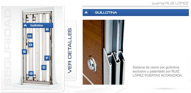 guillotina puerta acorazada
