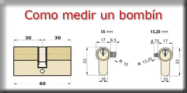 Medir un bombin o cilindro