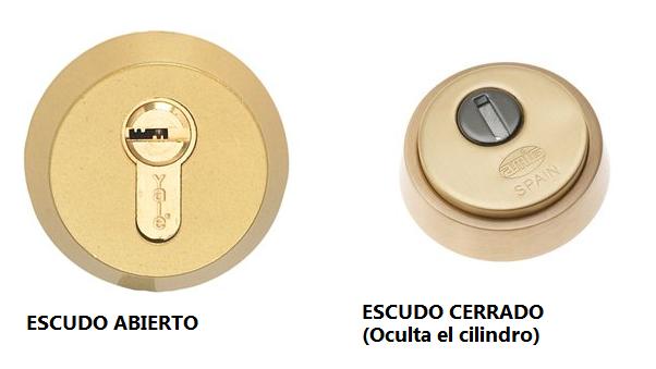 Comparativa escudo abierto y escudo cerrado